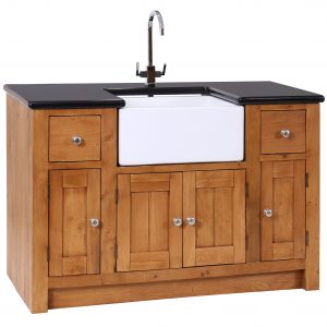 Oak Sink Unit 4 Doors & 2 Drawers