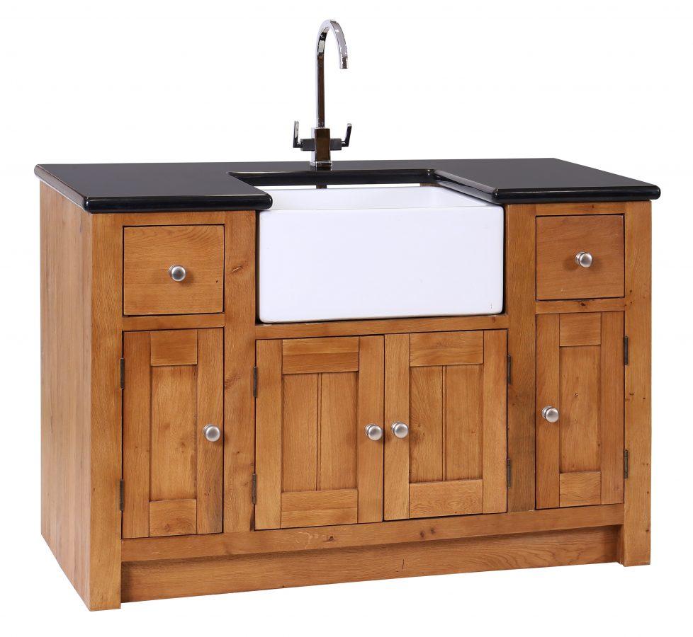 Oak Sink Unit 4 Doors & 2 Drawers