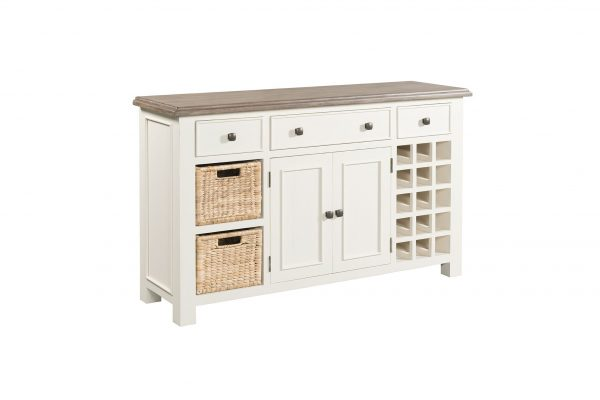 54-15 Large sideboard with wine rack & baskets