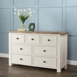 Porto white 3 Over 4 Chest of drawers