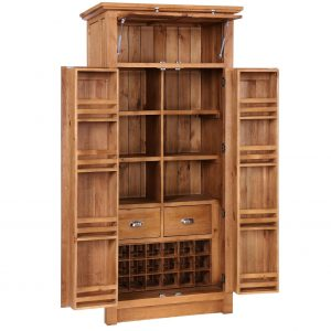 Avelyn - 4 Door Larder with Wine Rack 2