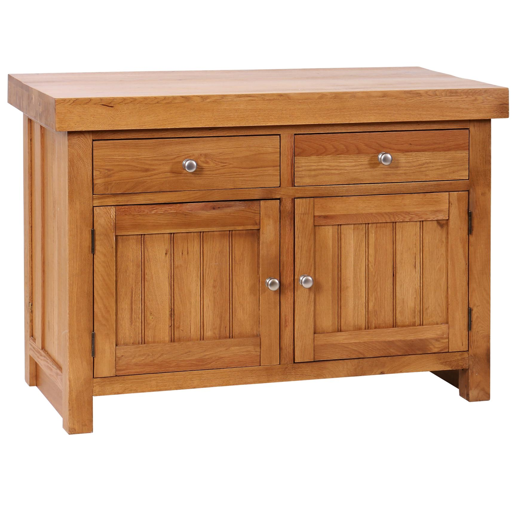 Avelyn - Butchers Block with 2 Shelves and 2 Drawers