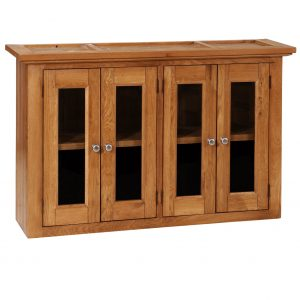 Avelyn Wall Unit-2 Shelves & 4 Glass Doors