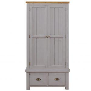 Charlton Grey - 2 Drawer 2 Door Wardrobe
