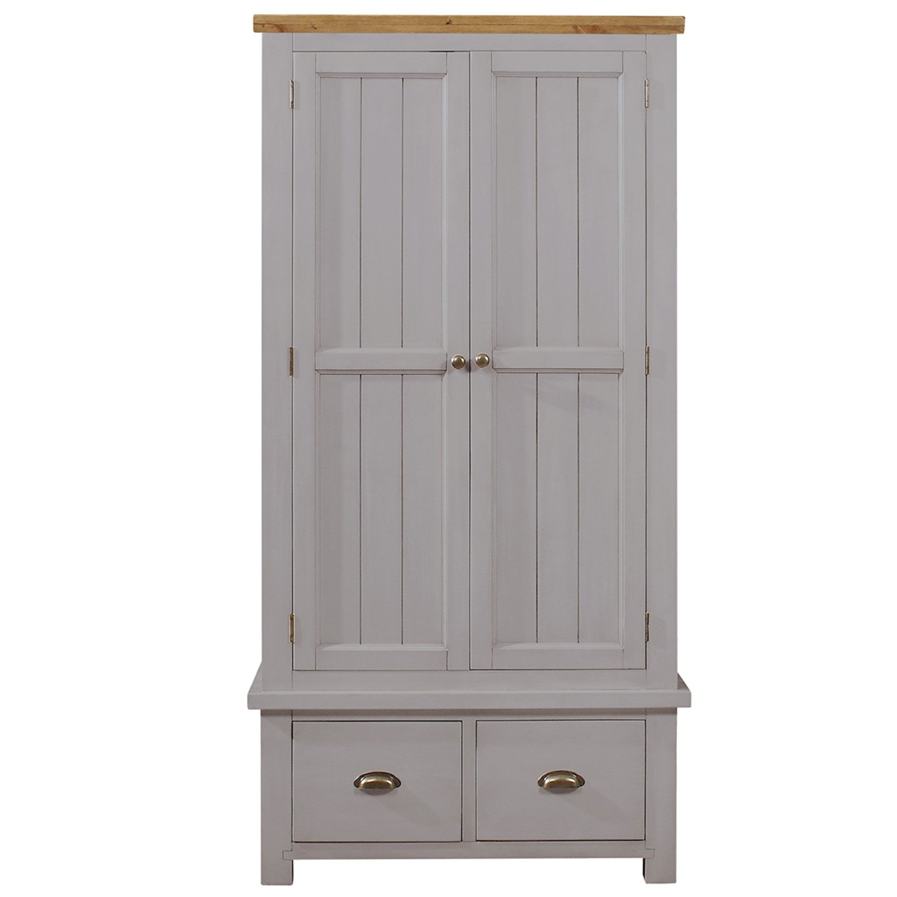 Charlton Grey - 2 Drawer 2 Door Wardrobe