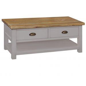 Charlton Grey - 2 Drawer Coffee Table