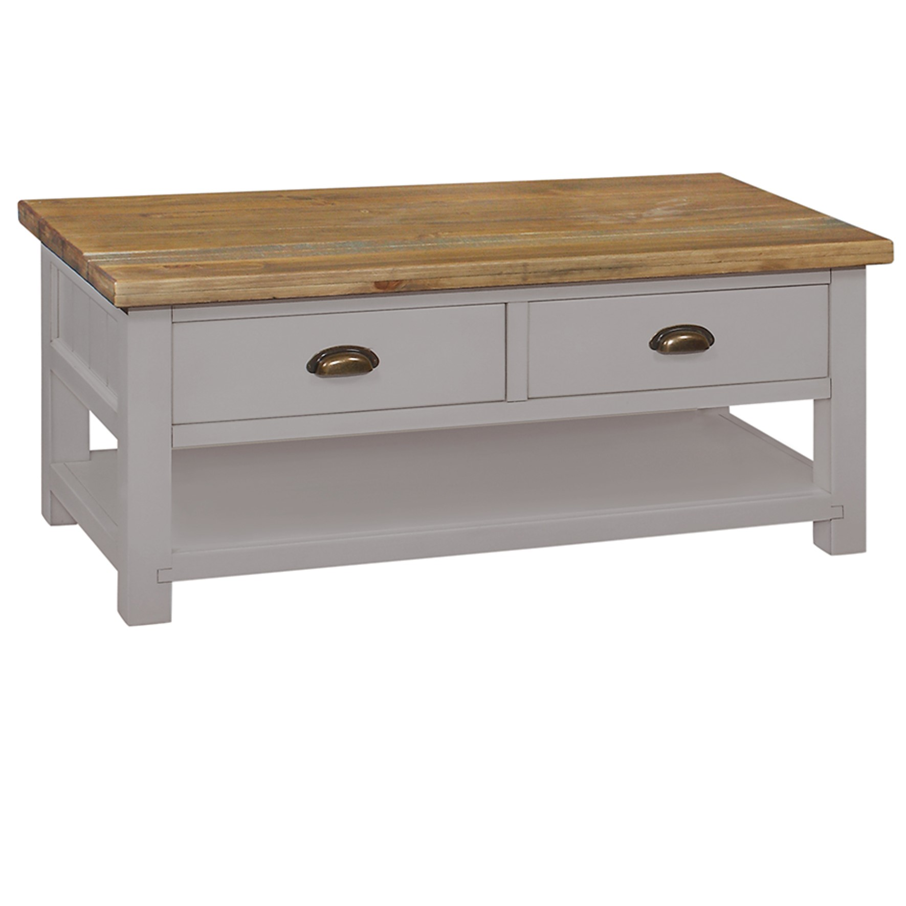 Charlton Grey - 2 Drawer Coffee Table
