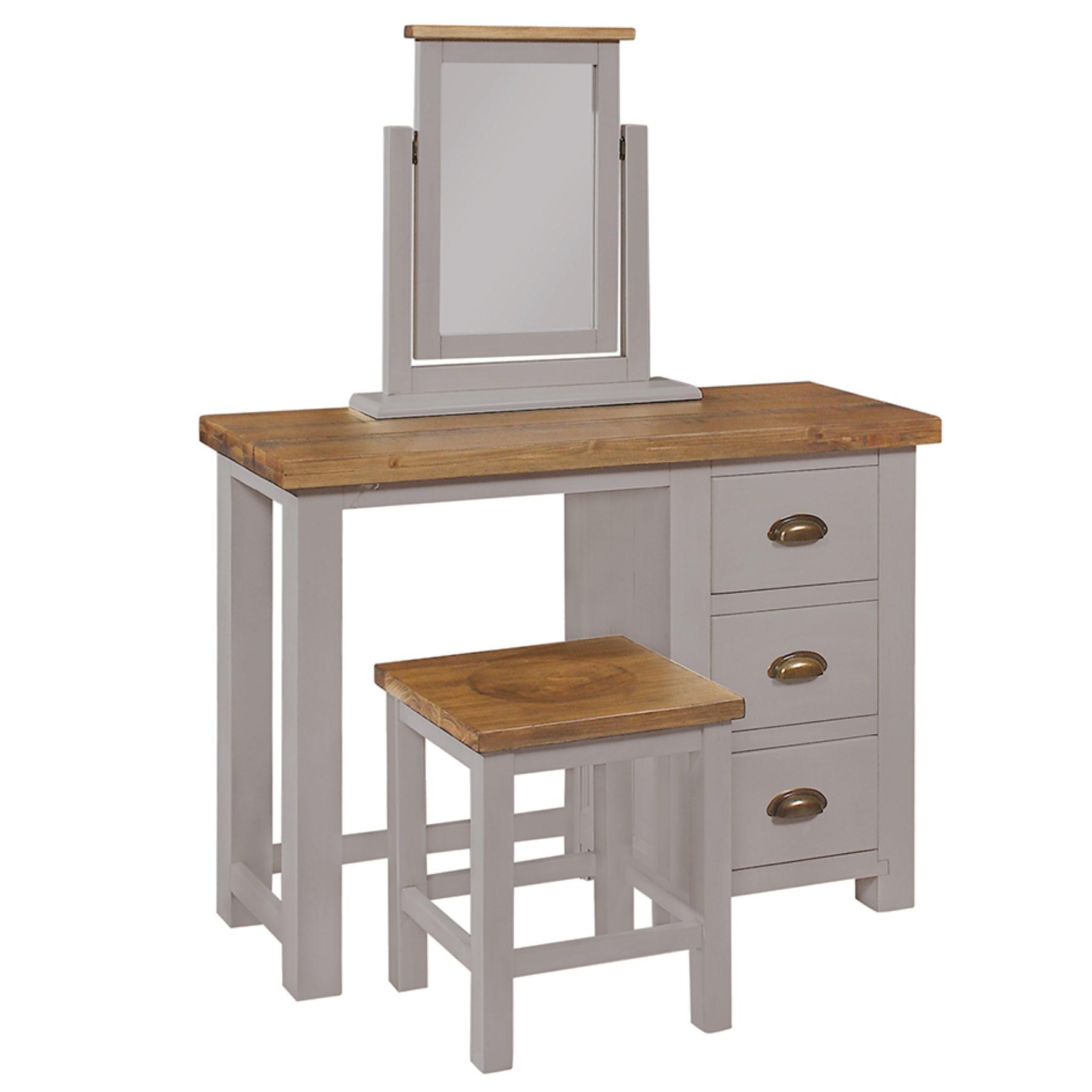 Charlton Grey - 3 Drawer Dressing Table