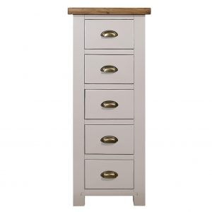 Charlton Grey - 5 Drawer Wellington Chest