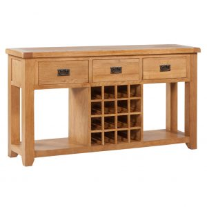 Vaughan - Open Sideboard with Wine Rack