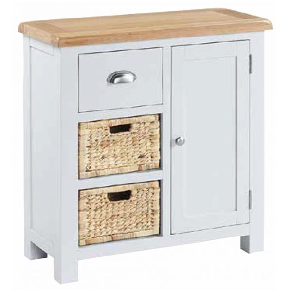 Halle – Compact Sideboard With Baskets