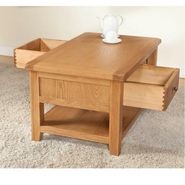 Stockholm – Coffee Table with 2 Drawers 2