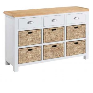 Halle Soft Cotton Sideboard with 3 Drawers, 6 Baskets