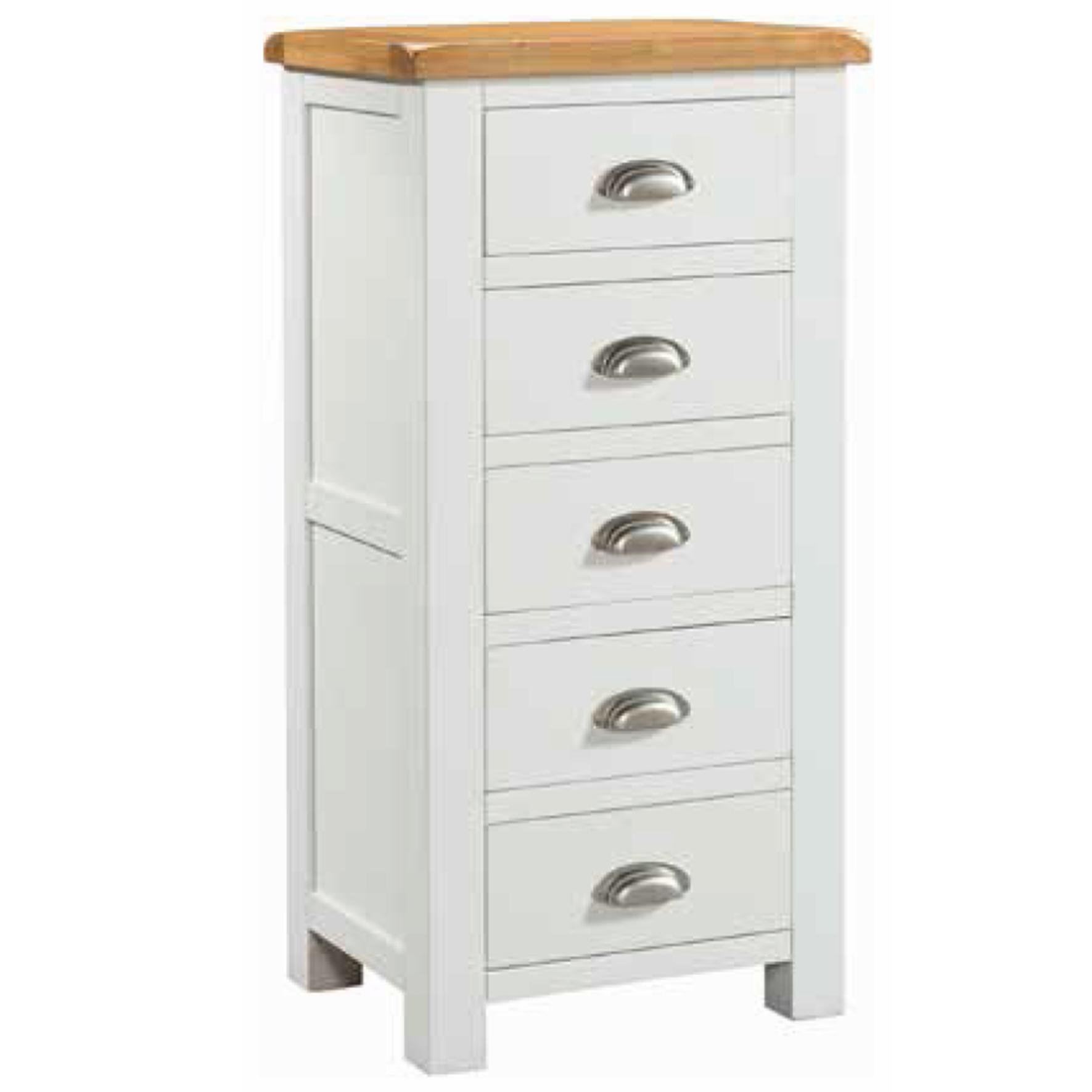 Halle Soft Cotton Tall 5 Drawer Chest