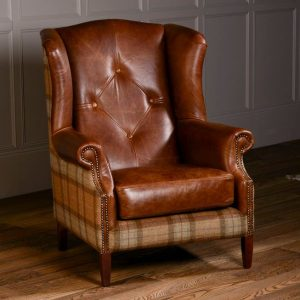 Vintage Leather Wing Chair 5