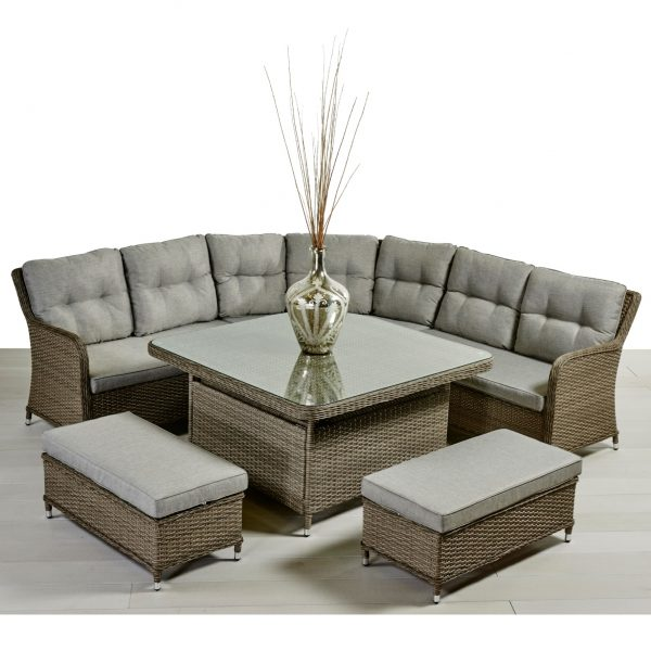 deluxe sofa dining set
