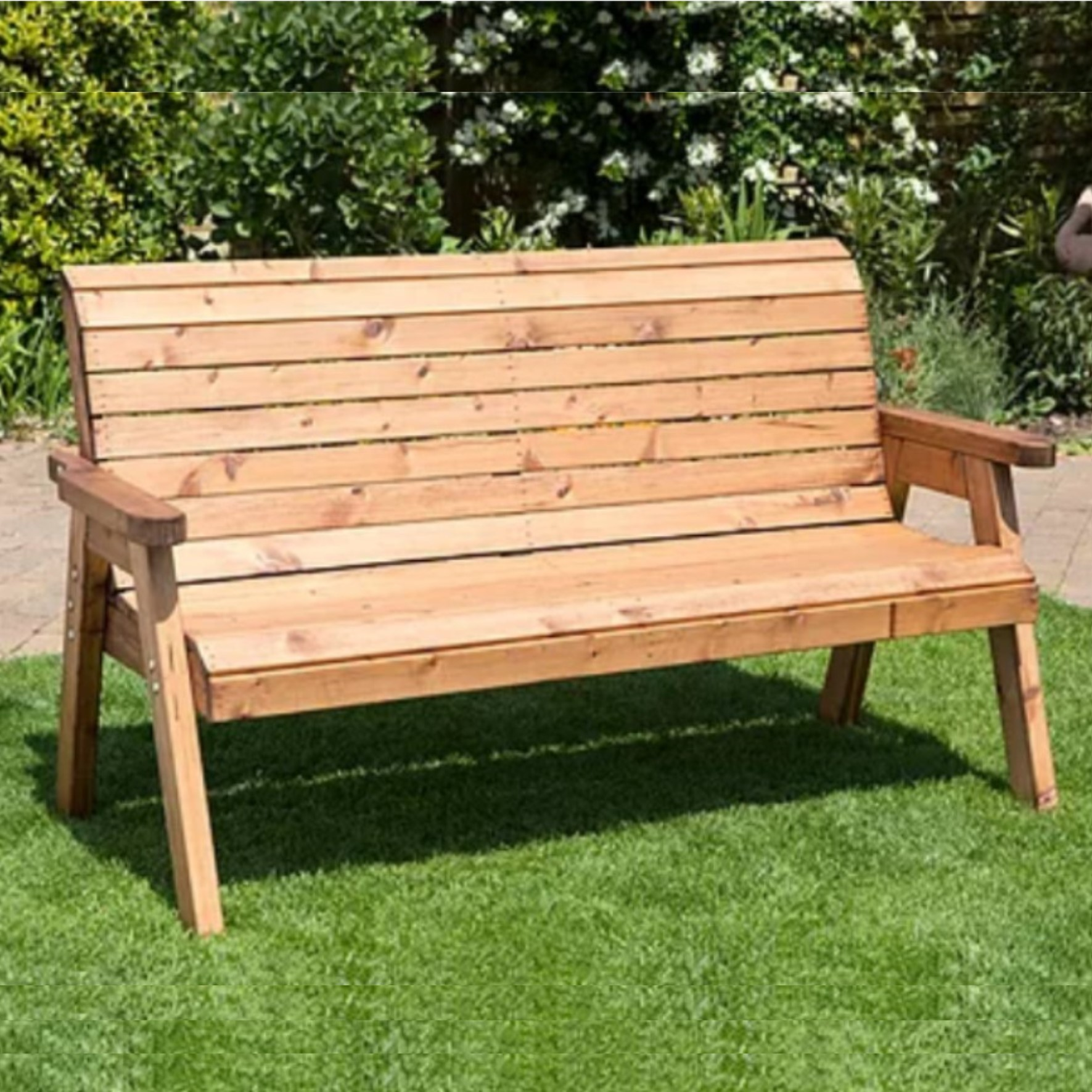 Roll Back 3 Seater Bench