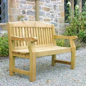 Solid Garden Bench 2