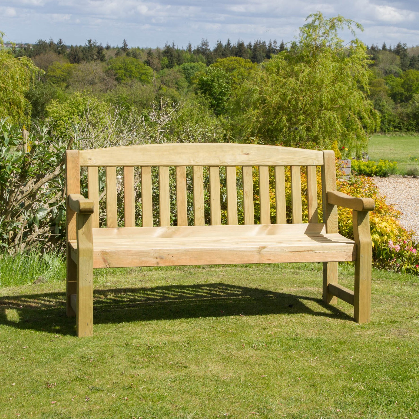 Solid Garden Bench