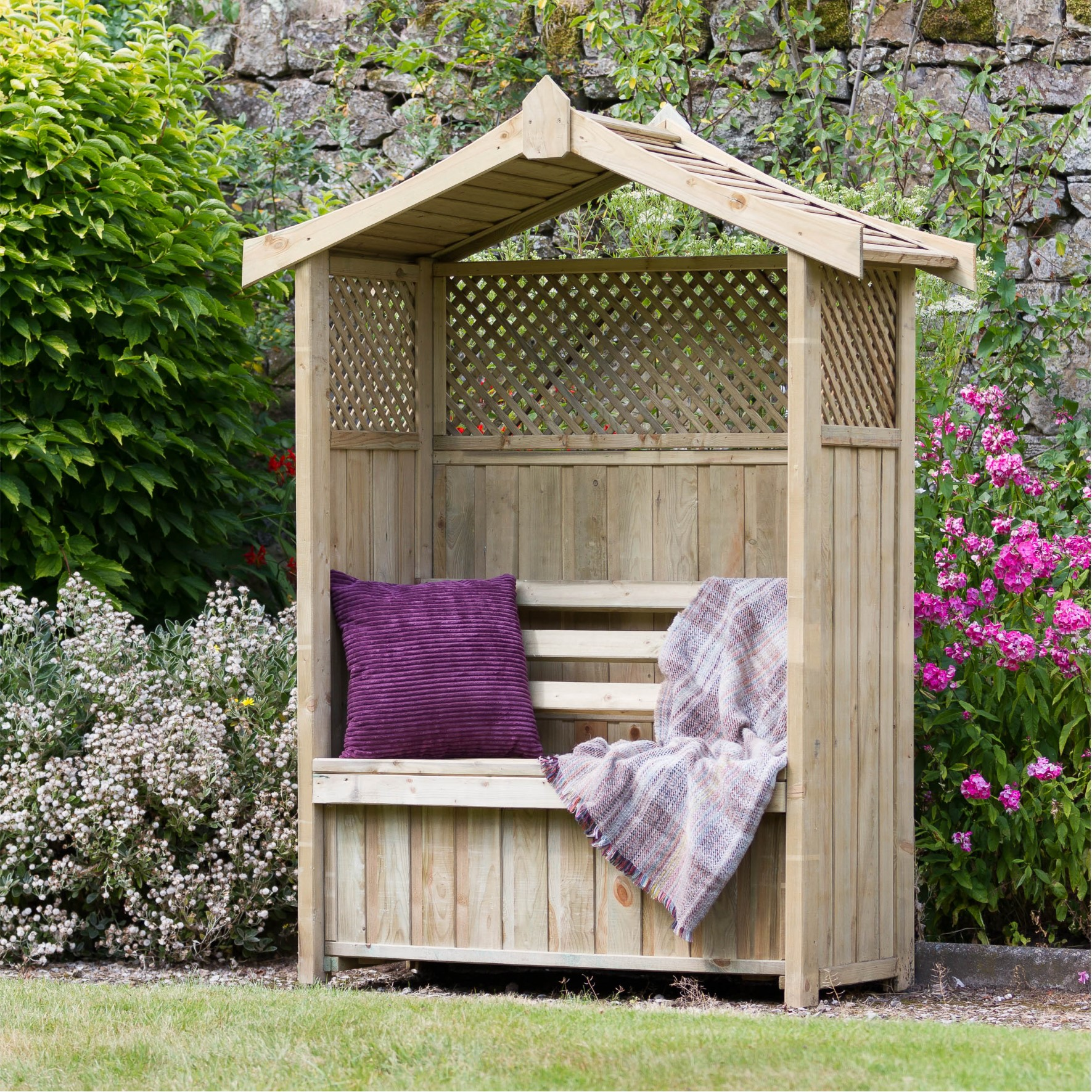 Haweswater Garden Arbour with Storage Box