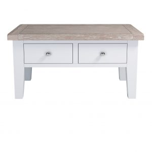 Chalked Oak Coffee Table With Drawers