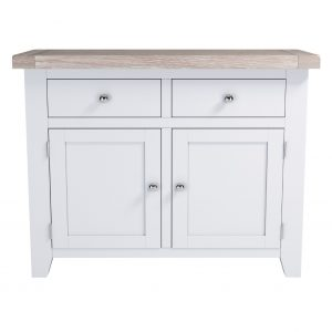Chalked Oak 2 Door 2 Drawer Sideboard