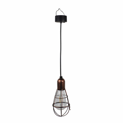 Solar edison hanging lightbulb