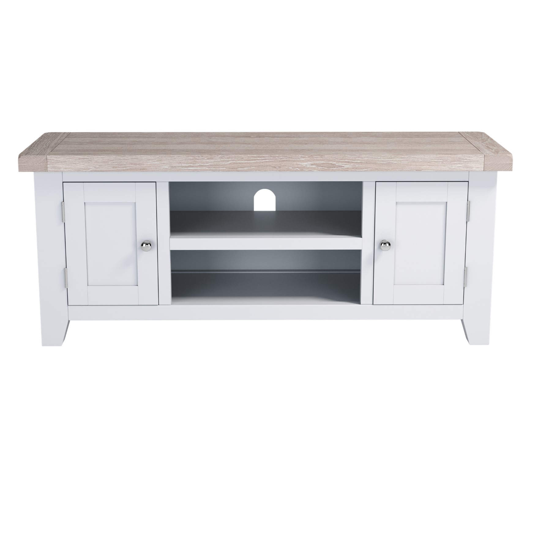 Chalked Oak Large TV Unit