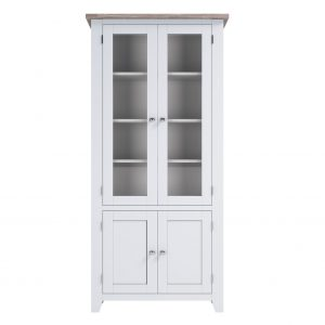 Chalked Oak Display Cabinet