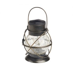 Solar Rainbow Rotating Crackle Glass Lantern