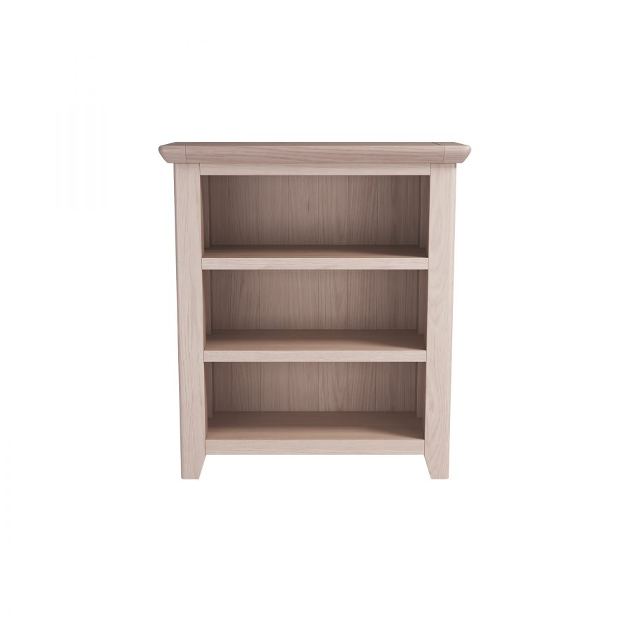 Smoked Oak Low Bookcase
