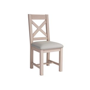 DAM235W-FA fabric dining chair crossback W460xD430xH1000