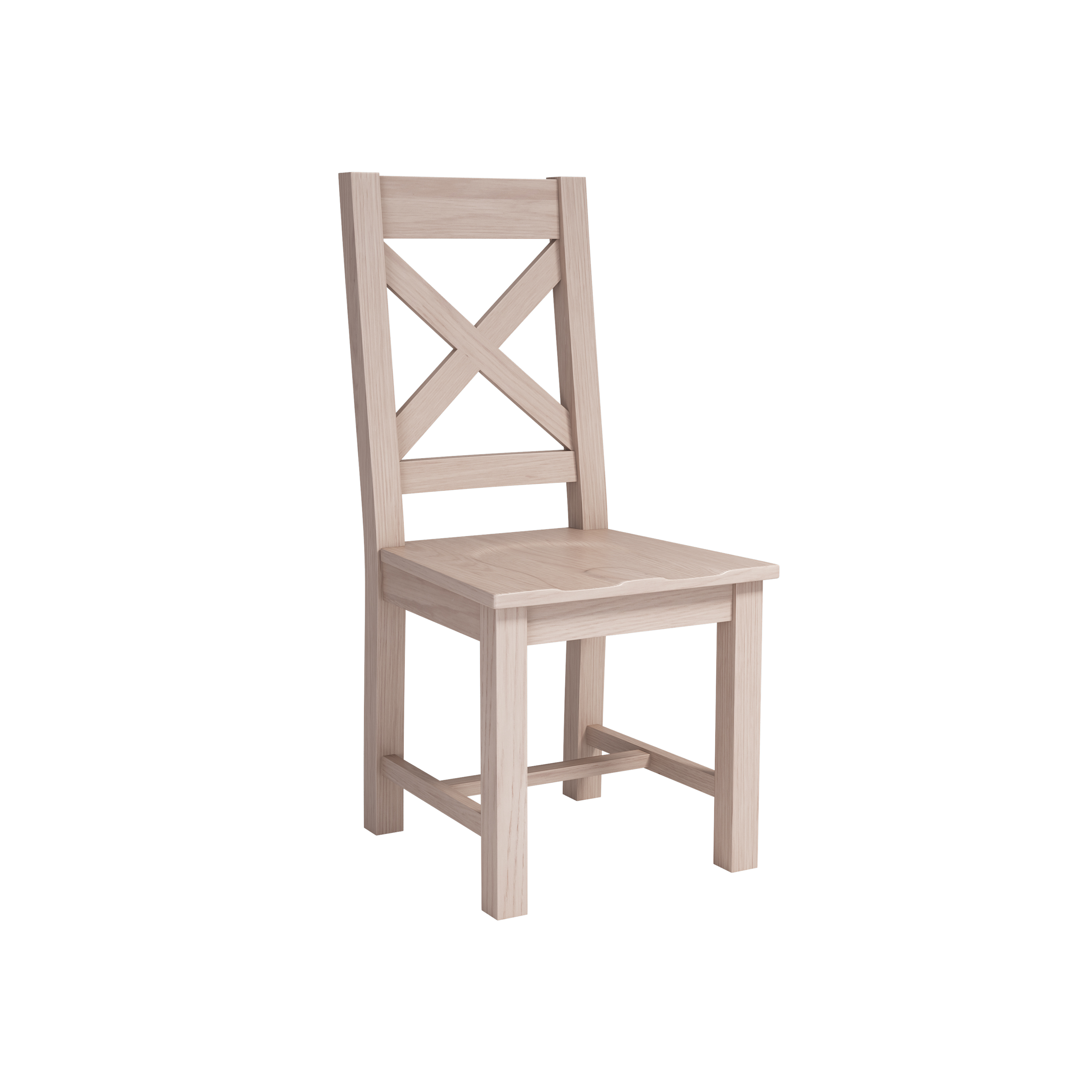 smoked oak cross back chair