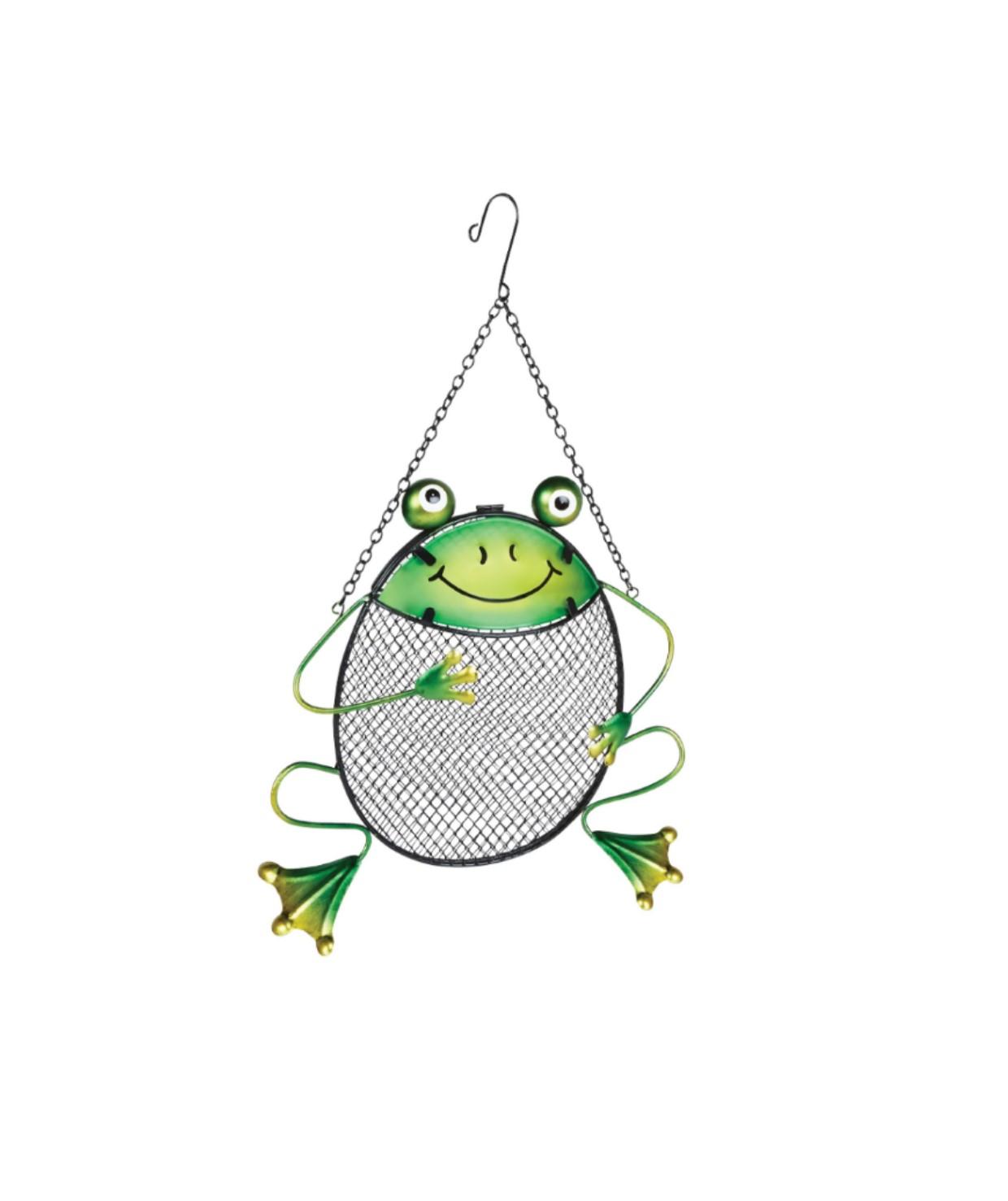 fun peanut feeder frog
