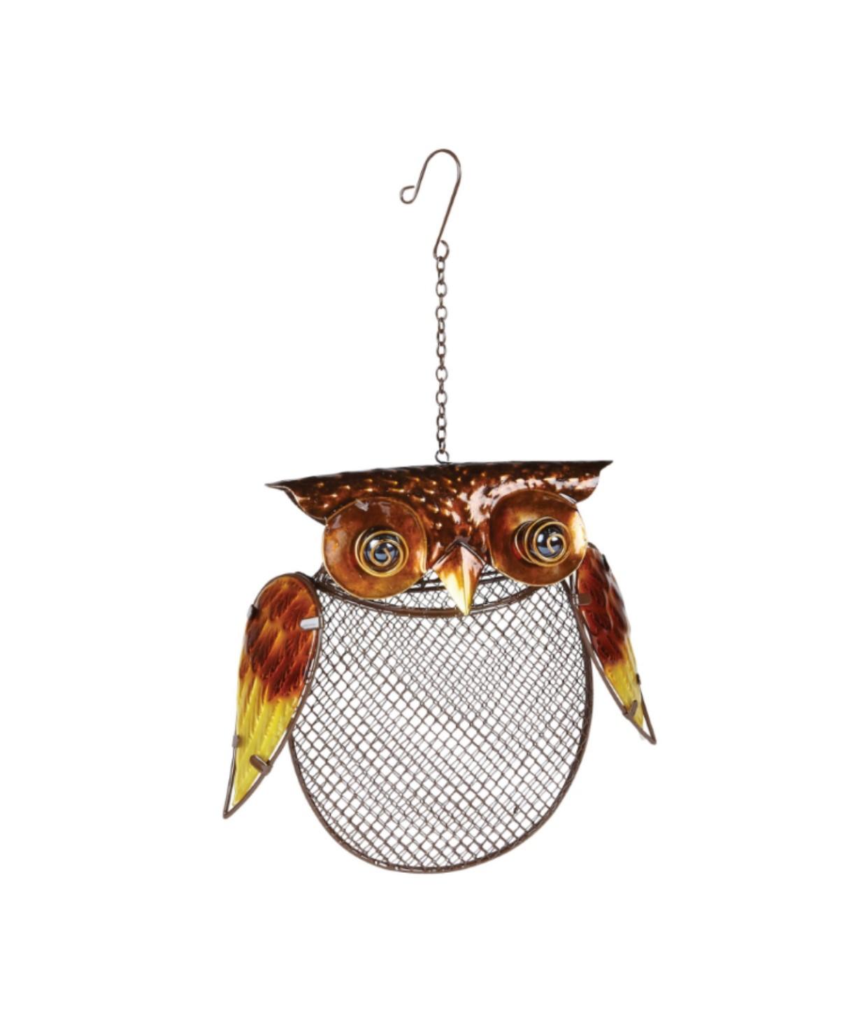 owl peanut feeder