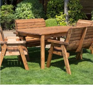 6 Seater Complete Picnic Table Set