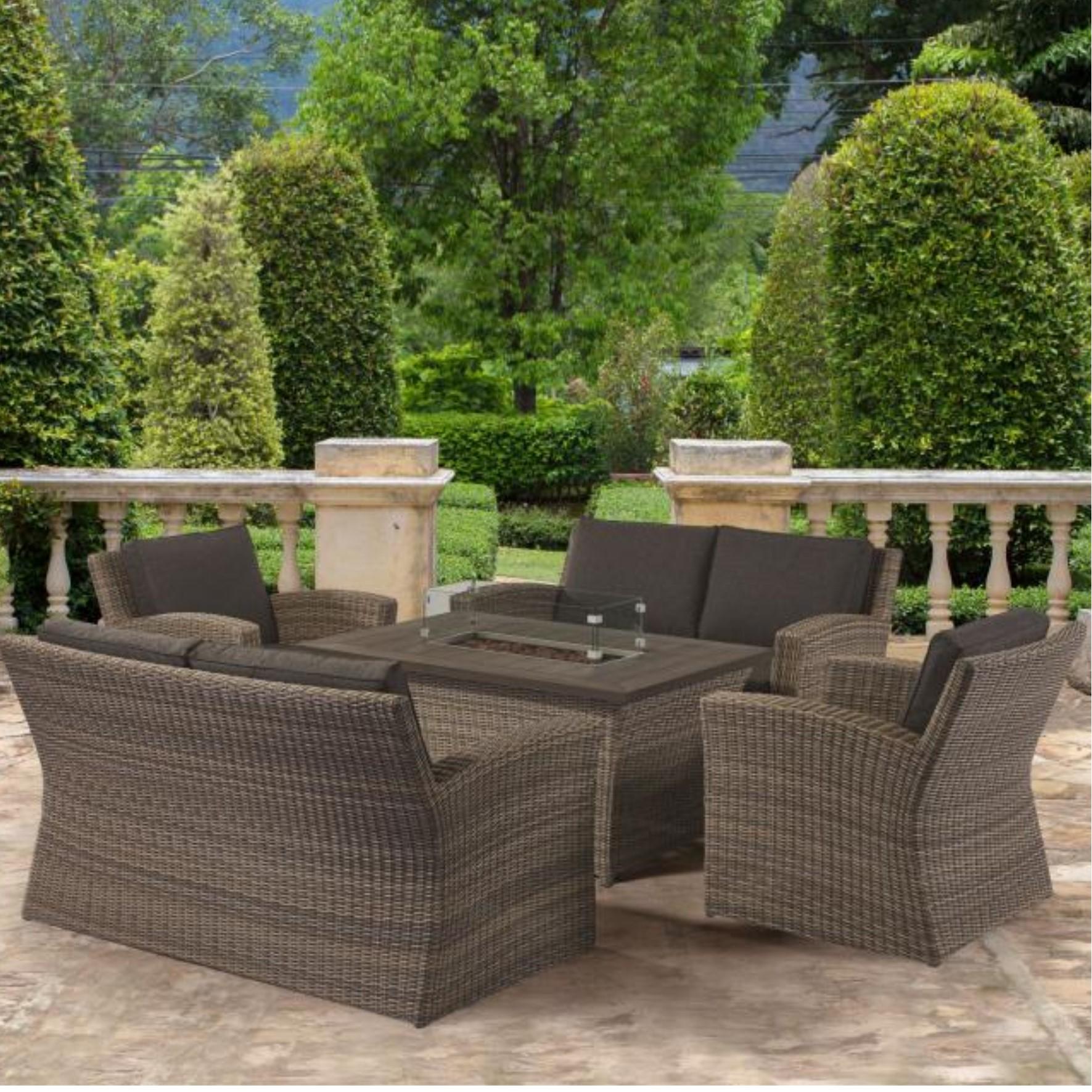 Carina Rectangular Fire Pit Sofa Set