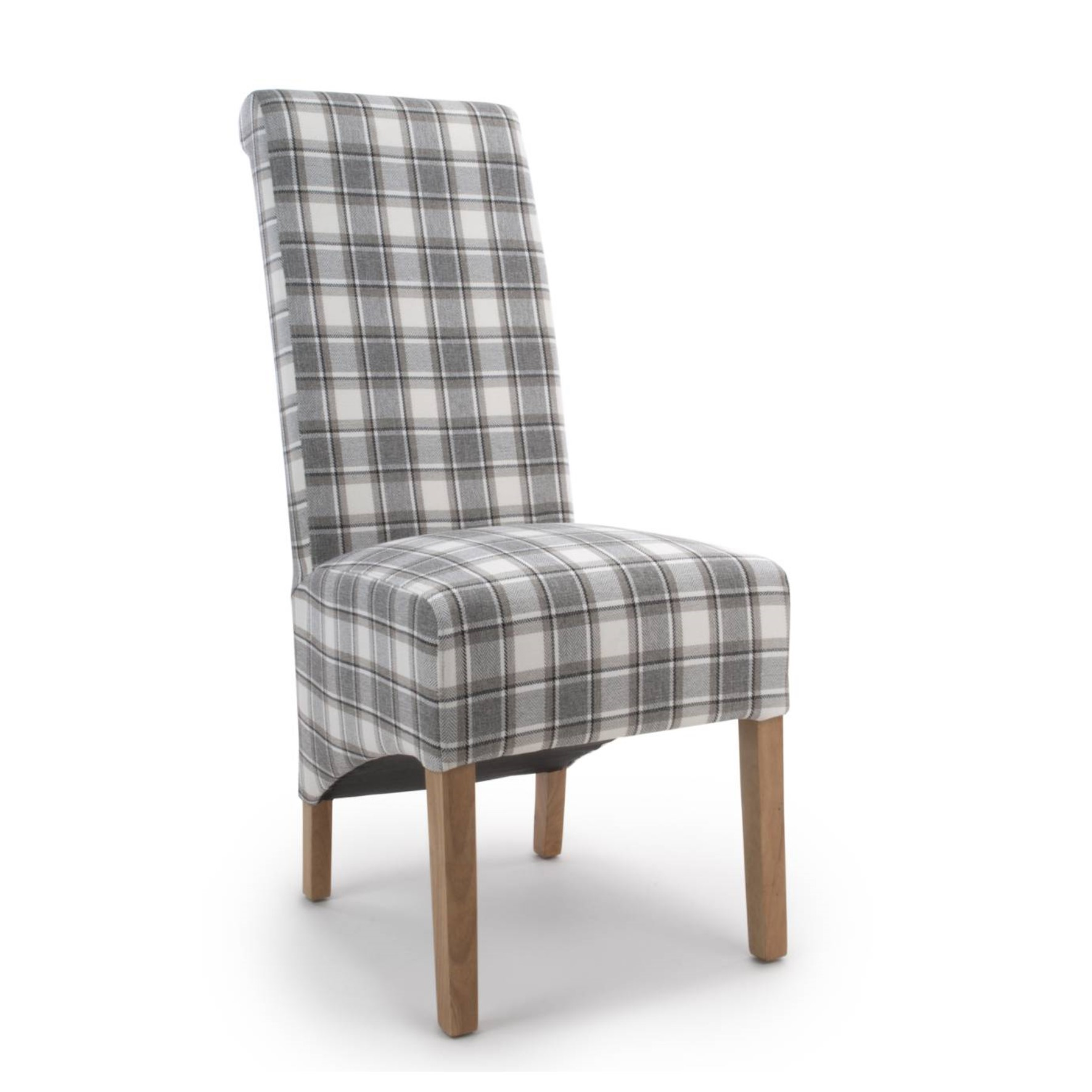 Herringbone Check Cappuccino Dining Chair