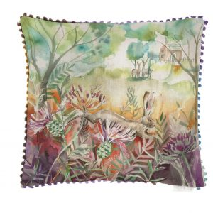 Voyage Hare & Thistles Cushion