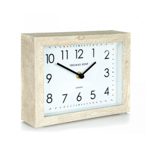 7inch Smithfield Mantel Clock Soaped Oak
