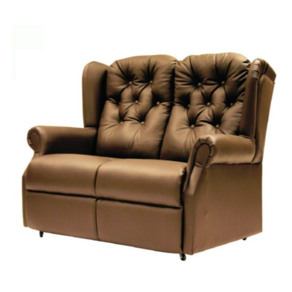 Amy Queen Anne Leather Sofa