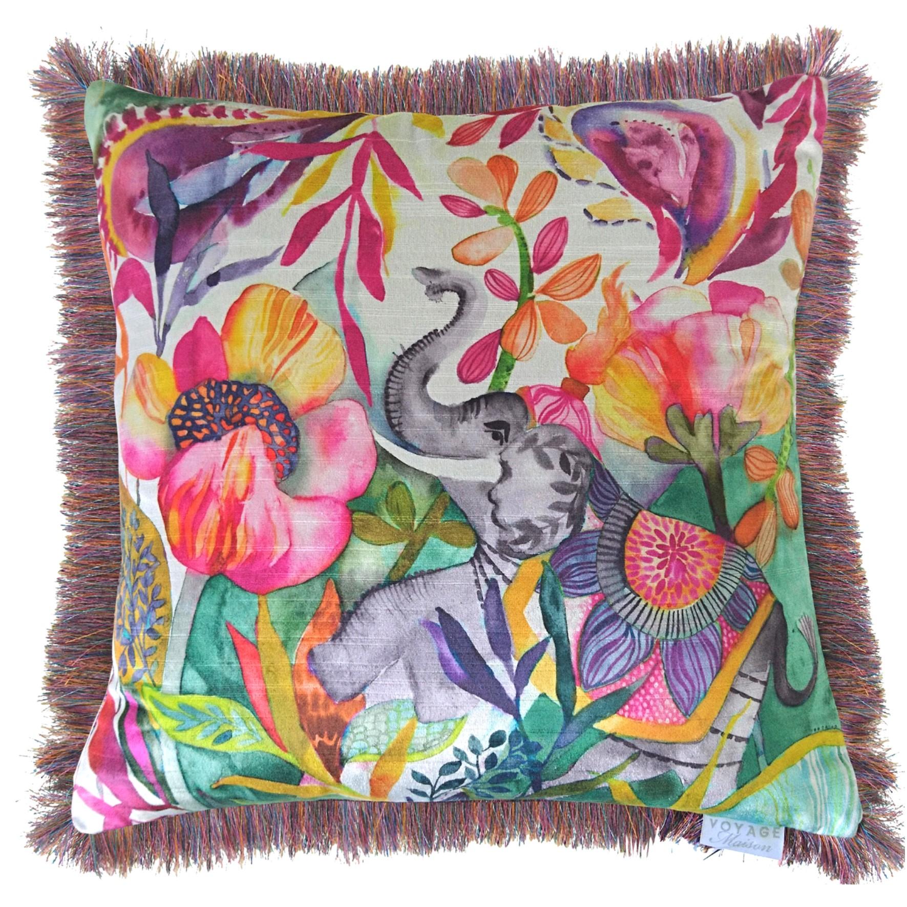 Malavika Velvet Fringe Cushion