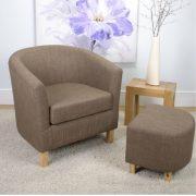 Cinnamon Linen Tub Chair Set