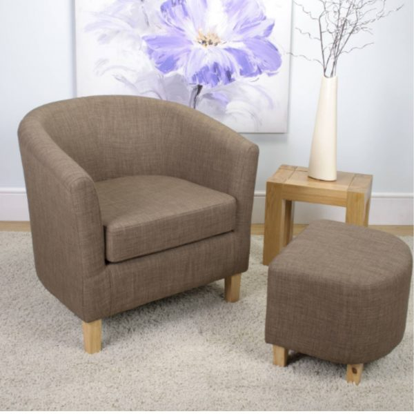 Cinnamon Linen Tub Chair Set