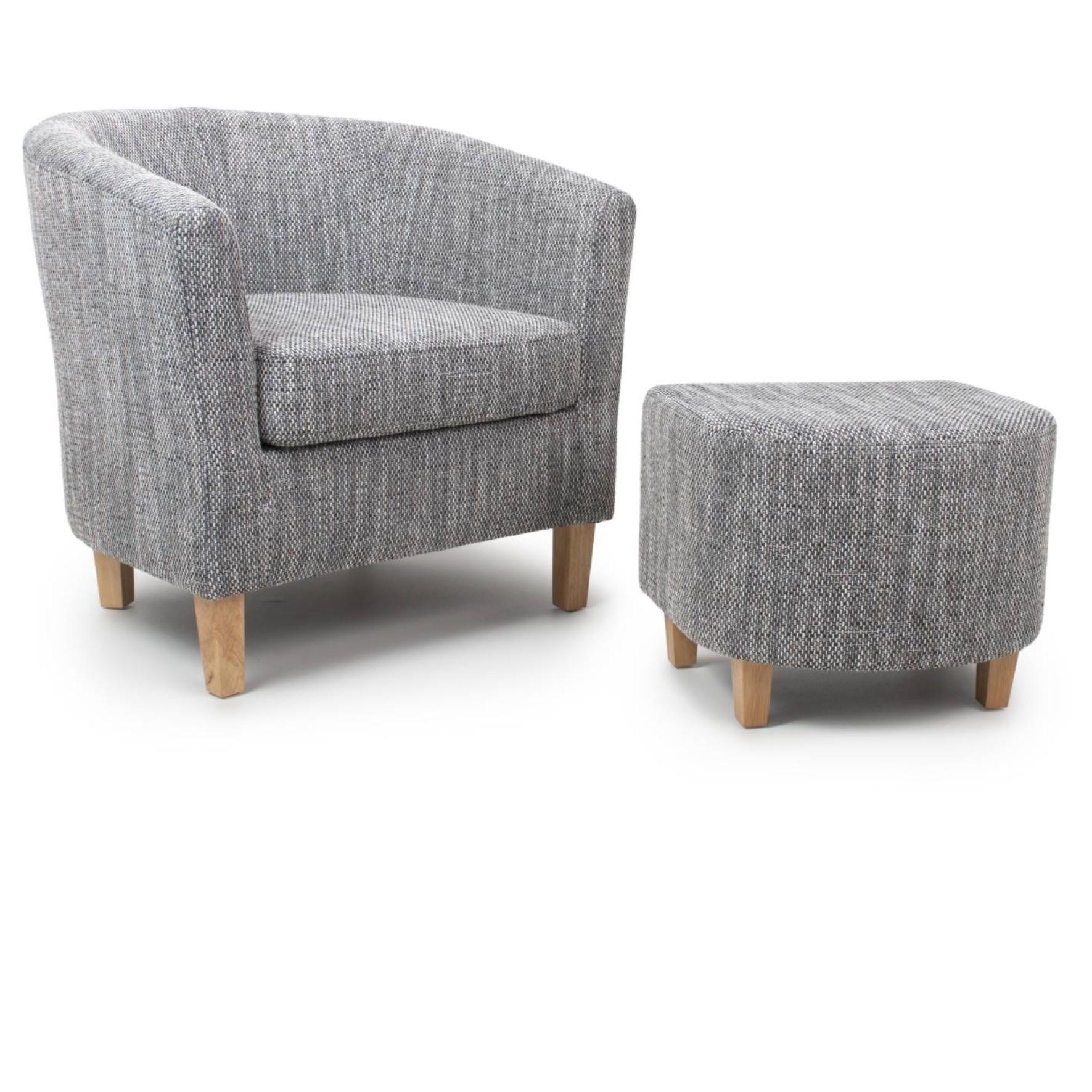 Grey Tweed Tub Set
