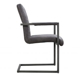 Grey dining chair with arms