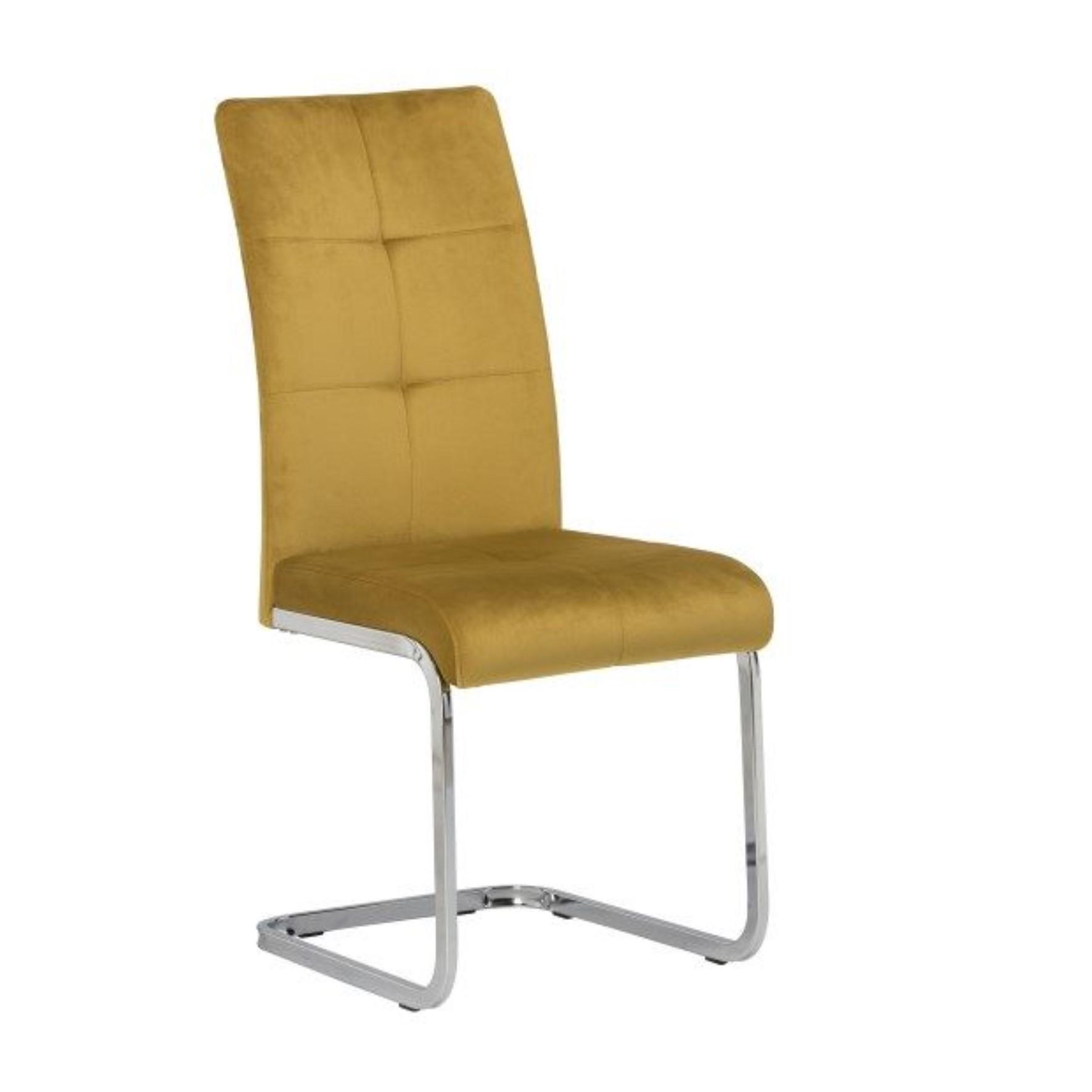 Florenzi Mustard Dining Chair