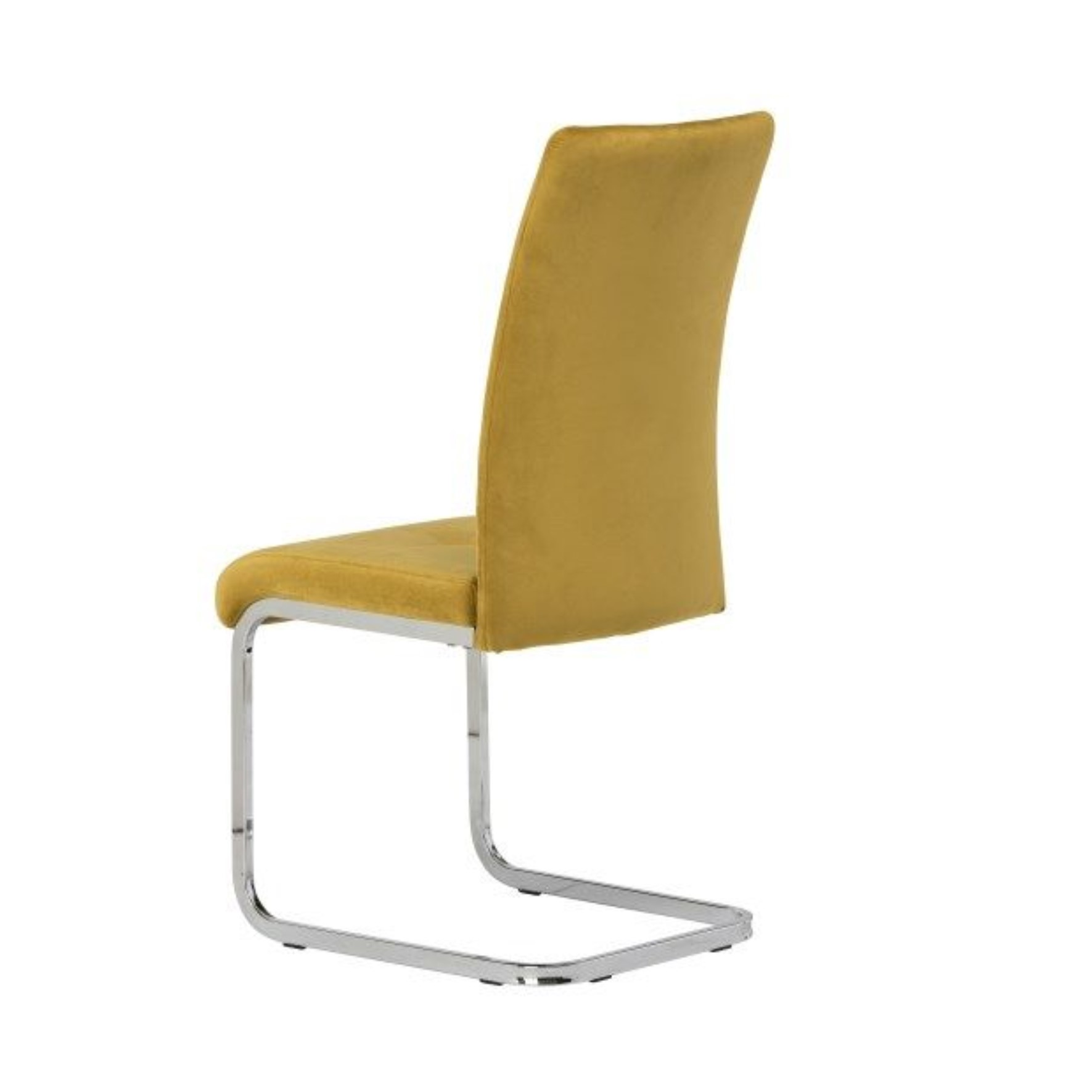mustard velvet dining chair