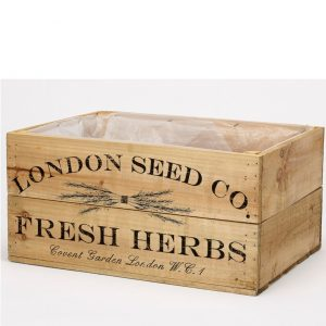 Antique Brown Herb Crate