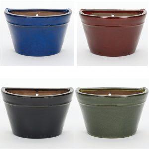 Glazed Wall Pot